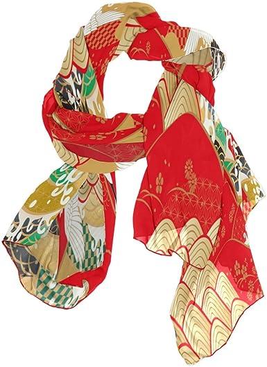 ALAZA Chiffon Silk Long Scarf Shawl Wrap