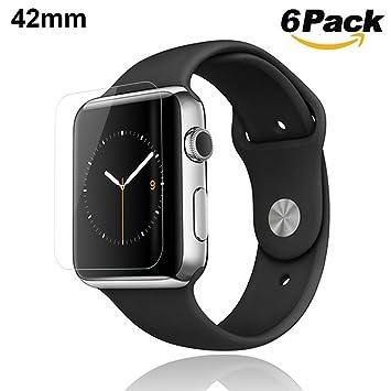Protector de Pantalla Apple Watch 42 MM,HuaforCity Film de ...