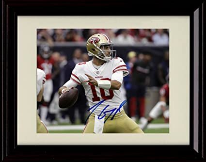 9aed634ca Image Unavailable. Image not available for. Color  Framed Jimmy Garoppolo  Autograph ...