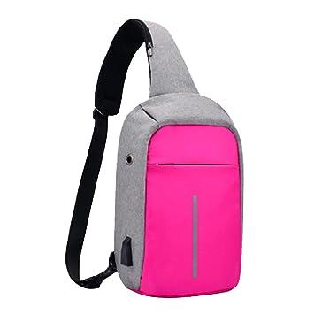 Super moderne Unisexe Sac quotidien en nylon loisirs Sac de sport avec écouteurs trou Sac d'école avec chargeur USB Port Large noir V7Dl8zn6u