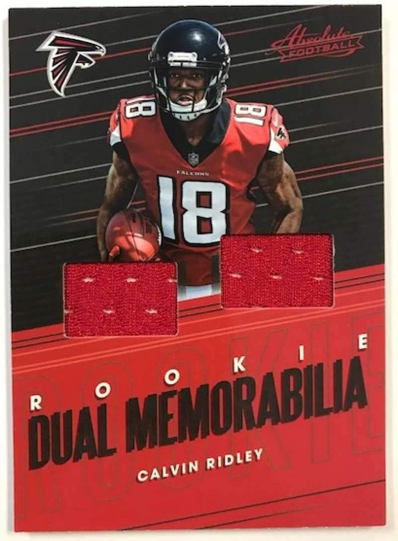 Amazon Com 2018 Absolute Football Rookie Dual Memorabilia 10 Calvin Ridley Mem Atlanta Falcons Official Nfl Trading Card Made By Panini Collectibles Fine Art