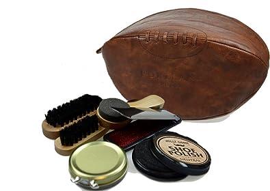 Portland Vintage Pu Leather Rugby Ball Shoe Polish Care Shine Kit