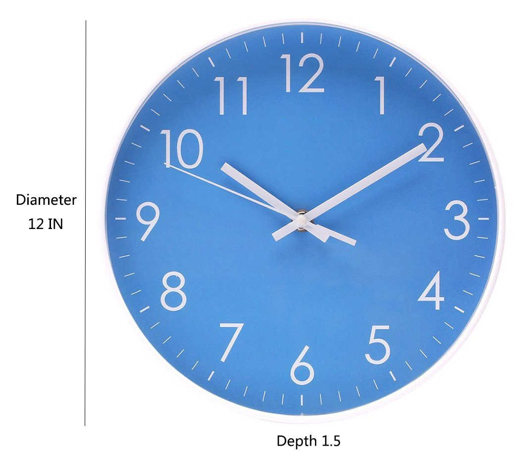Filly Wink Simple Wall Clock Sweep Second Hand Non Ticking