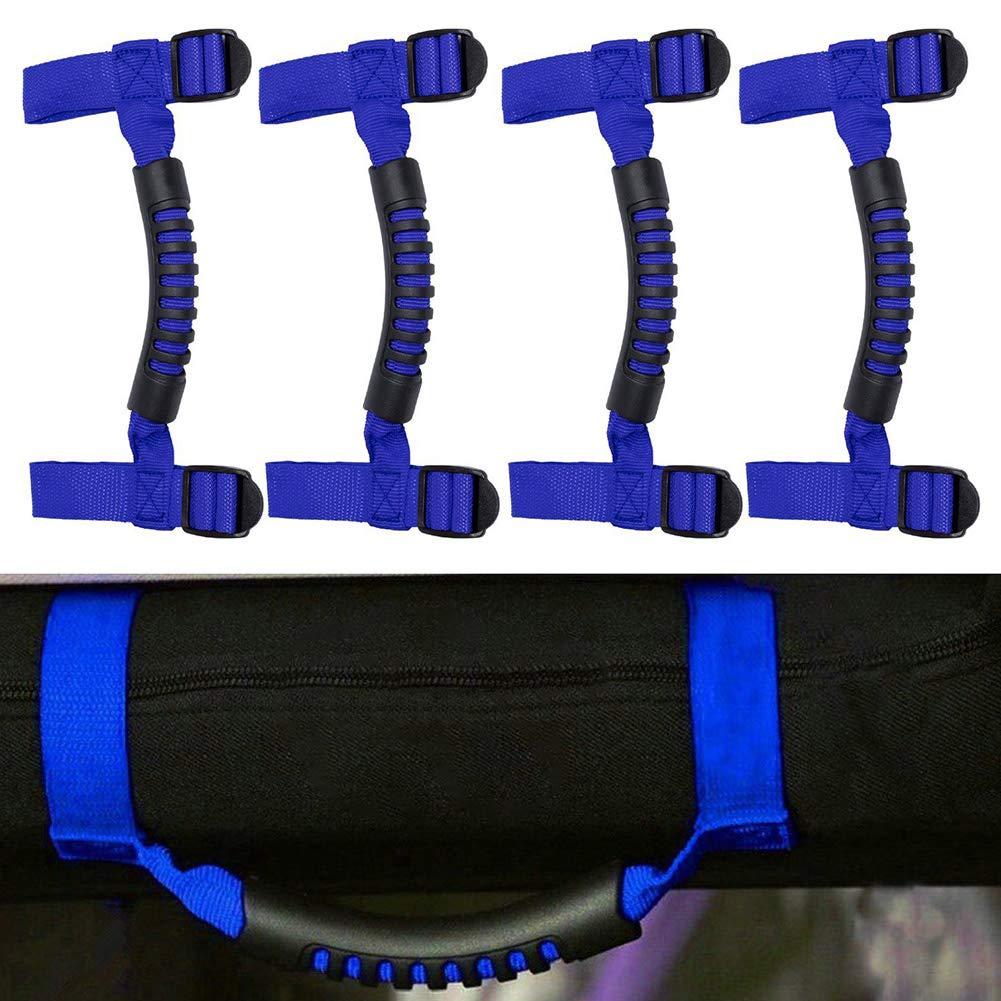 Delleu 4 PCS Roll Bar Grab Maniglie Impugnatura Forte Durevole per Jeep Wrangler YJ TJ JK JL JL Sport Sahara libert/à Rubicon X Illimitato 1995-2018