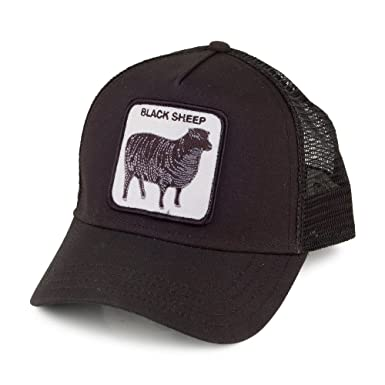 Goorin Bros. Black Sheep Trucker Cap - Black Adjustable  Amazon.co ... 9a0fedea684