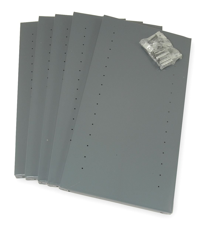 Shelves, 20 ga., Gray, 36 In. W, PK5