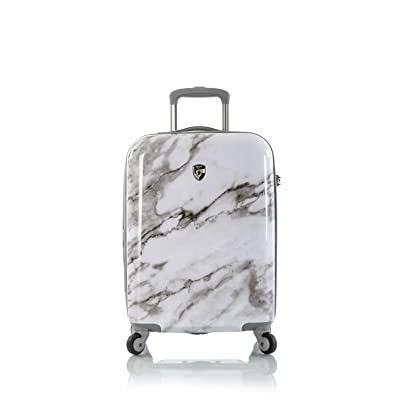 "Heys Carrara White Marble 21"" Fashion Spinner Carry-on"