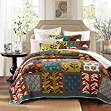 Tache 3 Piece Summer Day Party Cotton Patchwork Quilt Set ,King