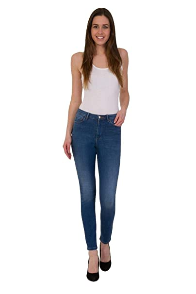 abc4f6ffa2a Ex High Street Brand Ankle Grazer Jeans for Women - Skinny Denim with  Button and Zip Fastening. Casual Clothing for Women: Amazon.co.uk: Clothing