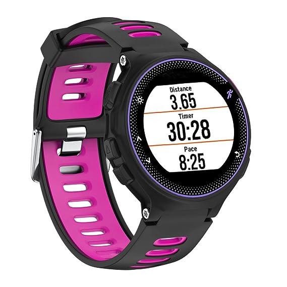 Correa de silicona para Garmin Forerunner 230 / 235 / 220 Watch de Magiyard (Rosa