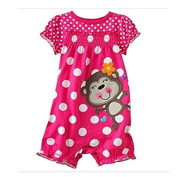 73842485d Amazon.com  Baby girls Romper Newborn Shortalls Baby One-pieces ...