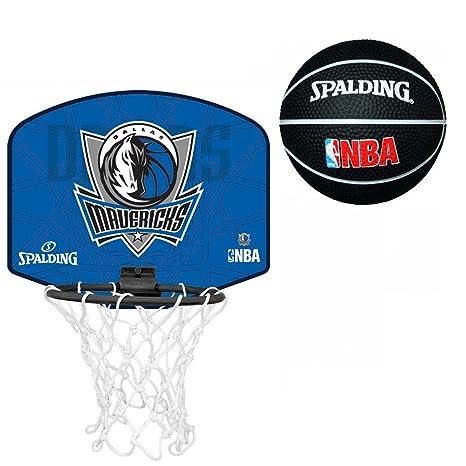 Spalding Dallas Mavericks - Juego de mini canasta y balón de ...