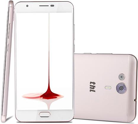 THL Knight 1 - Smartphone Libre 4G de 5.5HD (Dual cámera, Octa Core, 1.5GHZ, Android 7.0, 3 GB RAM + 32 GB ROM, MT6750T, identificación de Huellas Dactilares, batería de 3,100 mAh), Oro: Amazon.es: Electrónica