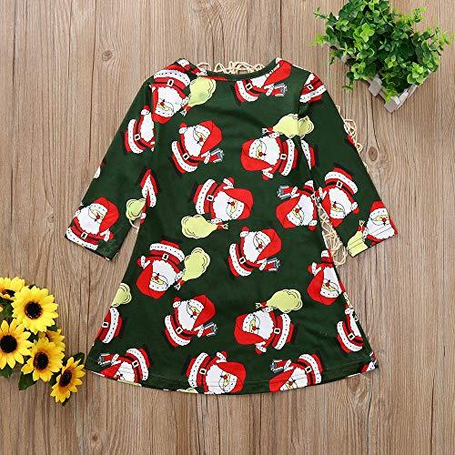 GoodLock Clearance!! Baby Boys Girls Christmas Dress Toddler Kids Long Sleeve Cartoon Print Dress Clothes (Green, 18 Months) by GoodLock (Image #4)