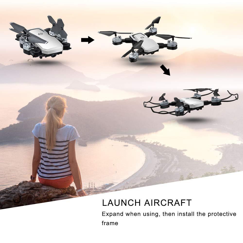 Adecuado para principiantes y ni/ños. 2 Bater/ías Altitude Hold/&Modo sin Cabeza/&Devoluci/ón con un clic Drone con Camara Drones para Ni/ños con Camara 1080P HD 20 Millones de P/íxeles WiFi FPV