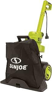 Sun Joe SBJ803E-SJG 14-Amp Walk Behind Outdoor Corded-Electric Vacuum Blower & Mulcher, 15:1 Reduction Ratio, 600-CFM, 165-MPH Airspeed, Green