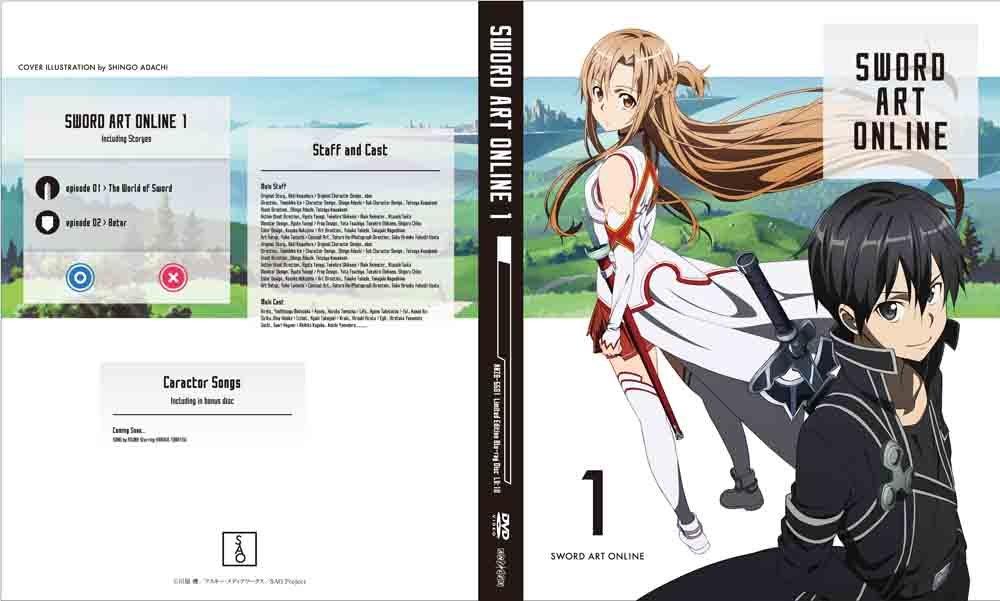 Amazon.com: Sword Art Online - Vol.1 (DVD+CD+BOOKLET+NOVEL+BOX) [Japan LTD DVD] ANZB-6601: Movies & TV