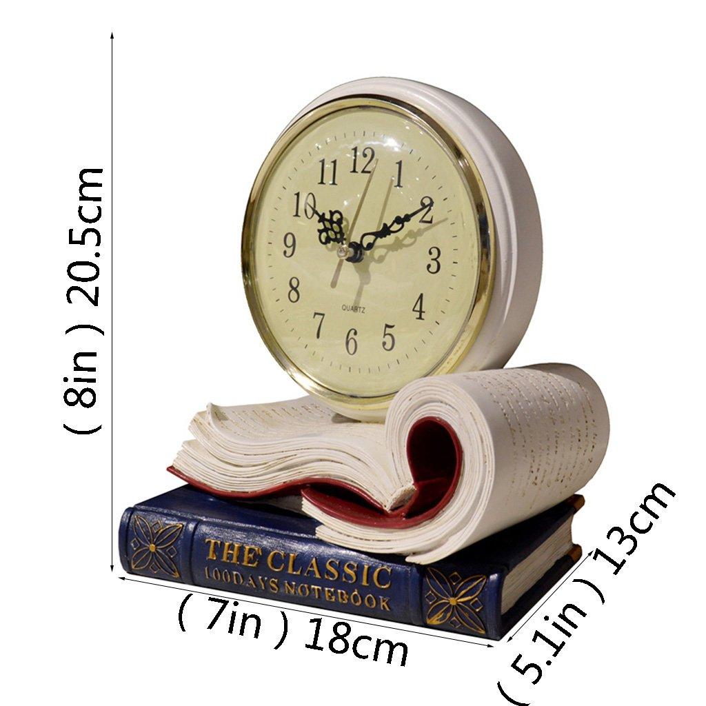 QIANDING zuozhong Relojes de Mesa Retro Mudo decoración del hogar Relojes Europeos Sala de Estar Ornamentos clásicos creativos Relojes de Mesa Antiguos: ...