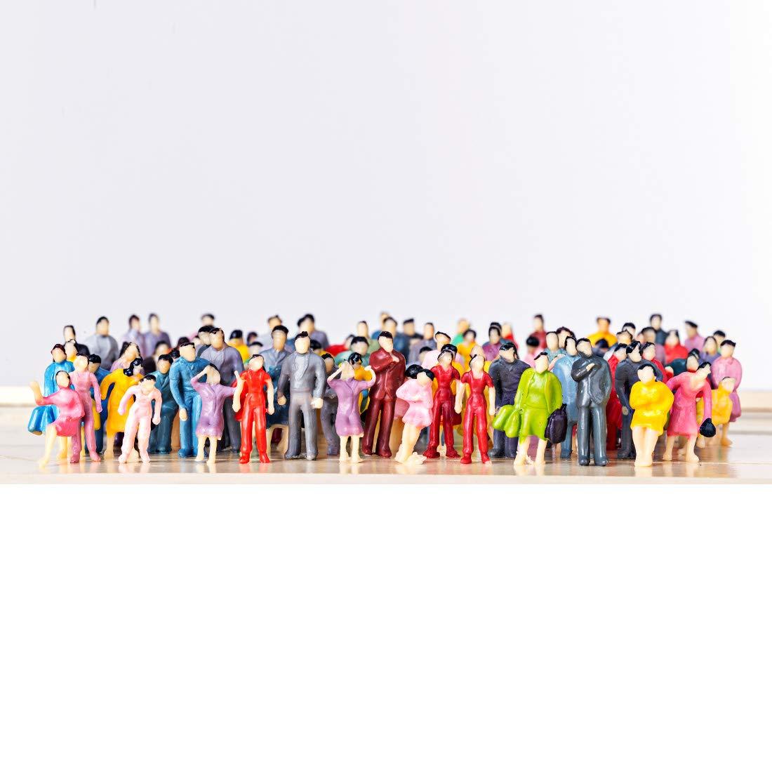 H0 1:87 Spieland 100St Minifiguren Eisenbahnzubeh/ör Menschen Modellbau Figuren Spur f/ür Modelleisenbahn und Fotogafieren