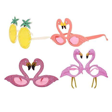 Amosfun 4 unids Gafas Sol de Flamingo y Gafas de Sol en ...