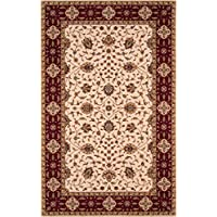 Momeni Rugs PERGAPG-08IVY3050 Persian Garden Collection, 100% New Zealand Wool Traditional Area Rug, 3 x 5, Ivory