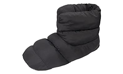 4e1bd0aba18f SLPR Unisex Warm Cozy Indoor Mid Bootie Slippers with Non-Slip Sole (Black
