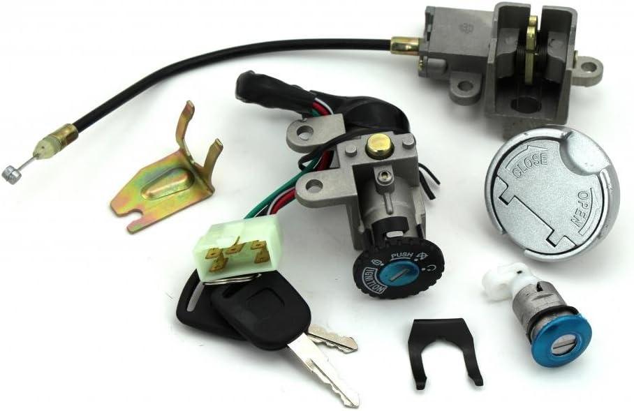 Amazon.com: Scooter Ignition Switch Key Set 49 50 cc TaoTao Peace Roketa  Jonway NST Tank Gy6: AutomotiveAmazon.com
