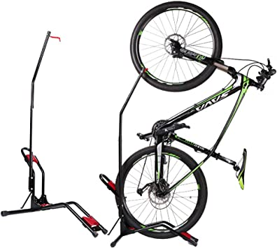 Multi-función del piso Estacionamiento de la bici del estante, Bicicleta Vertical Aparcamiento soporte pared soporte de la succión tipo de copa marco portátil colgantes verticales del bastidor,Negro: Amazon.es: Deportes y aire libre