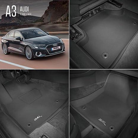 3D MAXpider Au di A3 S3 RS3 Limousine Sportback 8V 2013-2020 Tapis de Sol en Caoutchouc pour Voiture Auto Tous Temps Antid/érapant Imperm/éable Recouvrement Total
