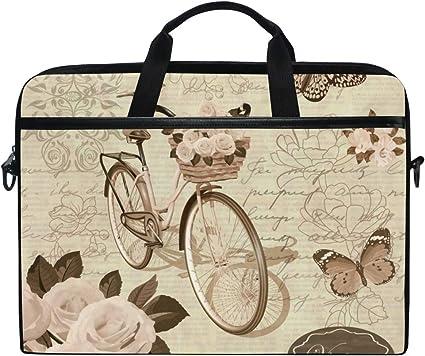 LOSNINA 15-15.6 Inch Bolsa de Ordenador,Postal Vintage Flores ...