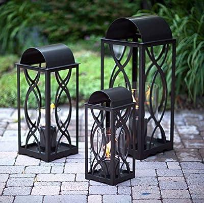 Terra Flame 700953164247 Augusta Collection Lantern, Small, Bronze