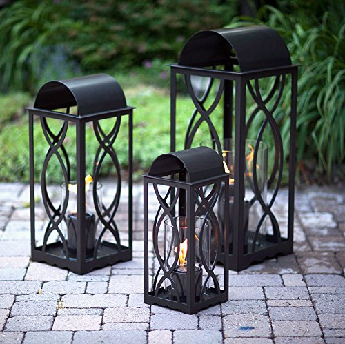 Traditional Gel Fuel Fireplace - Terra Flame 700953164247 Augusta Collection Lantern, Small-20in, Bronze