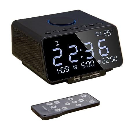 Radio Reloj Despertador con Alarma Dual, Radio FM Digital ...