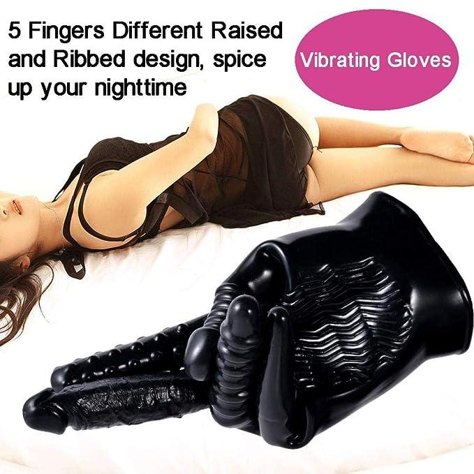 Productos de adultos by BaZhaHei, Vibrador coqueteando magia masaje guante estimulador del clítoris juguetes sexuales para adultos del 5-en-1 vibrantes ...