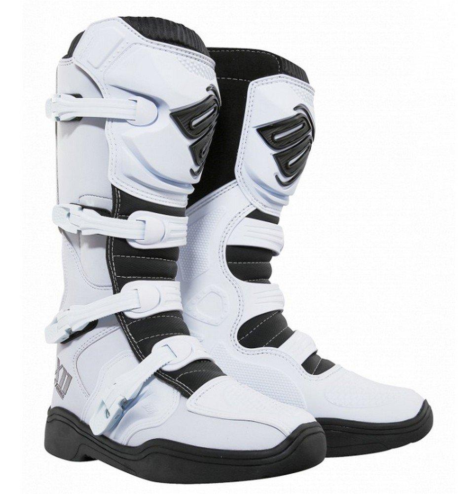 ショットx11メンズオフロードバイクブーツ – ホワイトサイズ46 B074QLSD3F