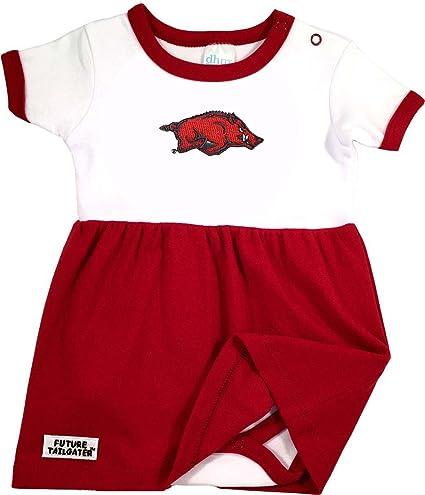 af7822220 Amazon.com : Future Tailgater Arkansas Razorback Baby Onesie Dress ...