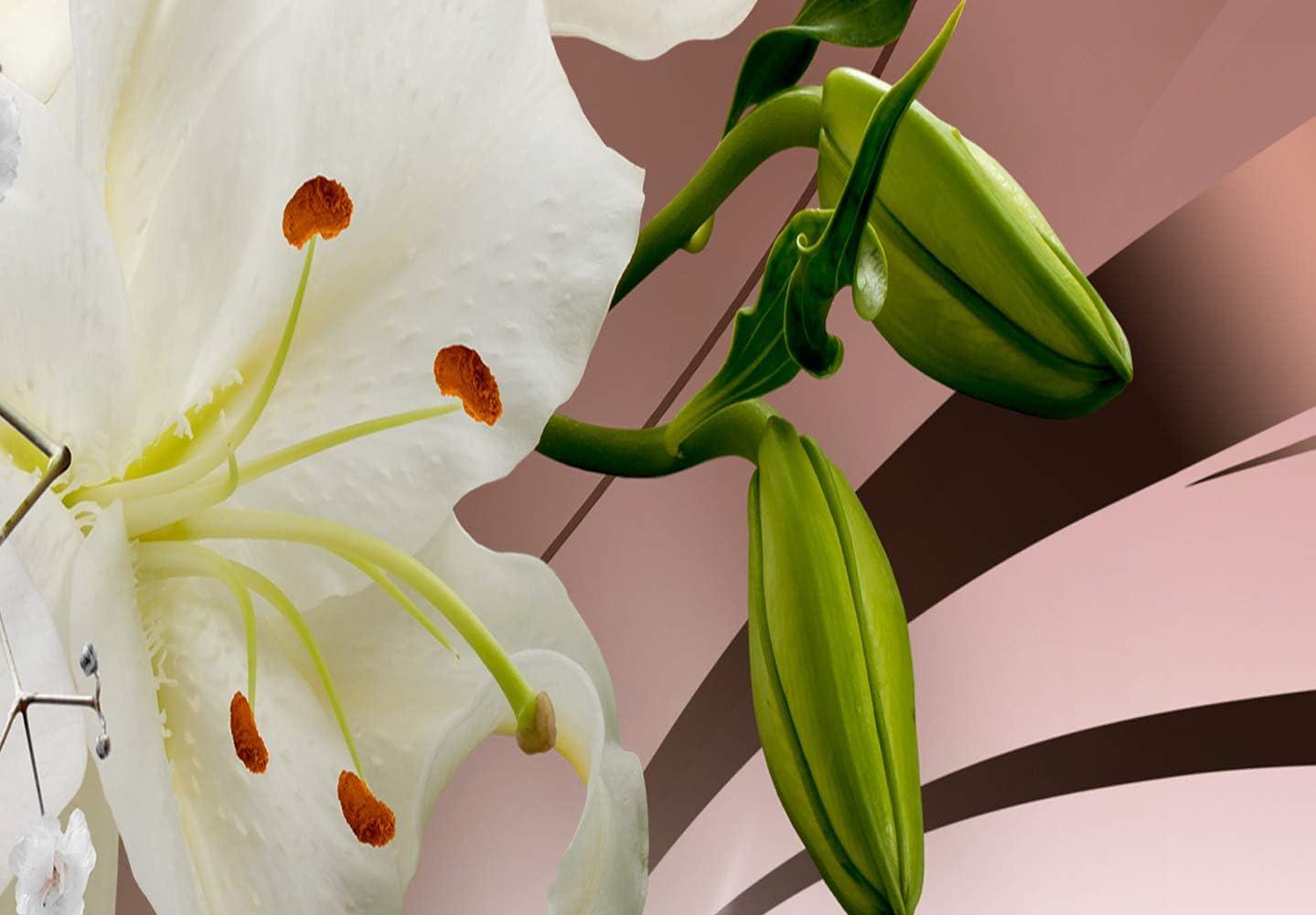 murando Impression sur Toile intissee Fleurs Lys 120x40 cm Tableau Tableaux Decoration Murale Photo Image Artistique Photographie Graphique 1 Partie Abstrait b-A-0364-b-a