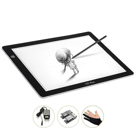 XP-Pen 18 LED tablet luminosa copia de dibujo con soporte de metal, CC