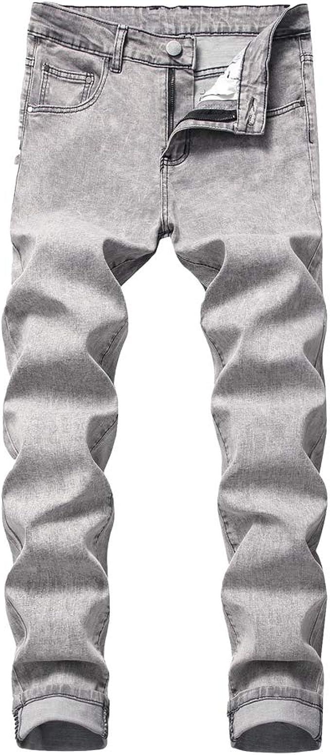 Yuanu Pantalones Vaqueros Jeans Hombre Tramo Regular Fit Pantalones Rectos Retro Lavar Cremallera Pantalones Rasgados Primavera Verano Casual Pantalones Streetwear Amazon Es Ropa Y Accesorios
