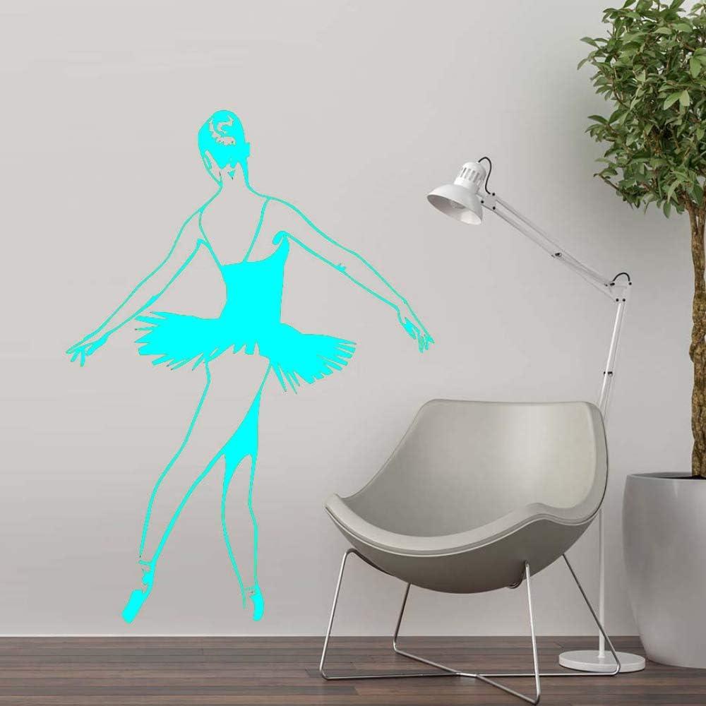 Nuevo diseño Ballet Dance etiqueta de la pared PVC decoración del hogar bailarina pared calcomanía niñas dormitorio decoración del hogar moderno ~ 1 42 * 59 cm