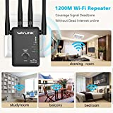 AC1200 Dual Band WiFi Range Extender - Wavlink Wireless Repeater Signal Booster/Access Point/Router with 2 Ethernet Port / External Antenna-Updated Version