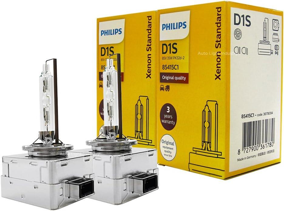 PHILLIPS D1S 35W 4300K XEN START XENOX HID HEADLIGHT BULB PAIR OEM 9285 139 294