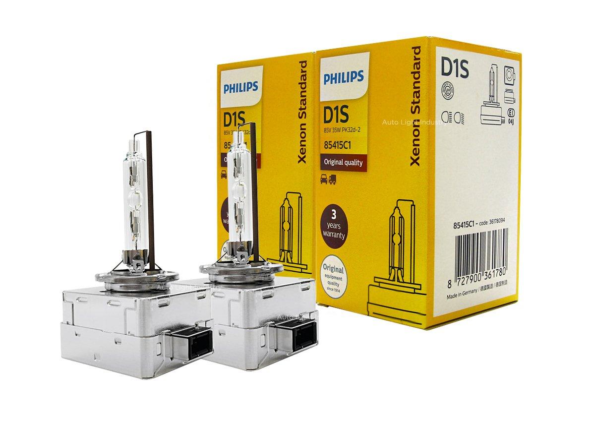 PHILIPS D1S Bulbs 85415C1 35W DOT OEM 4300K Germany by ALI - Pack of 2
