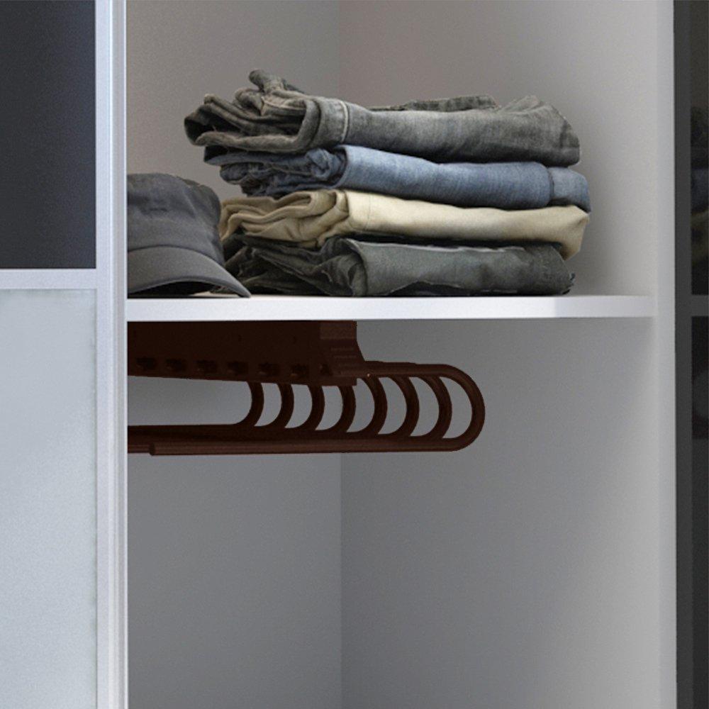 Emuca 7085925 - Perchero colgador extraíble de armario para pantalones, montaje a mano derecha