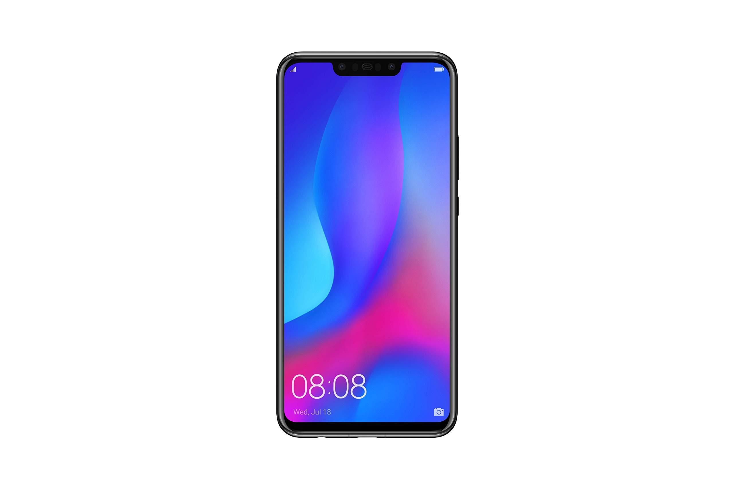 HUAWEI Nova 3 6.3インチ SIMフリー スマートフォン ブラック nova 3/Black 【日本正規代理店品】