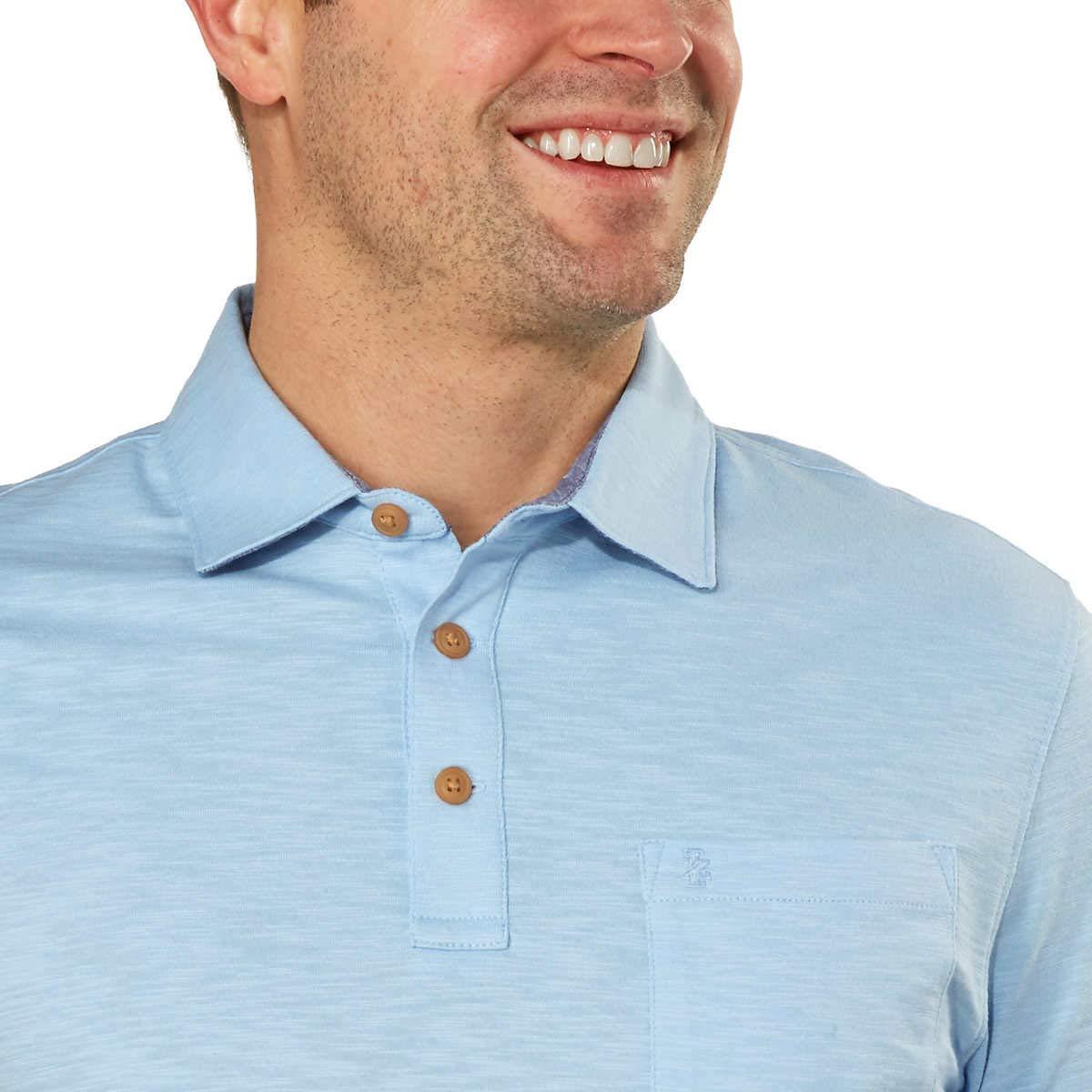IZOD Mens Polo Shirts Short Sleeve Cotton Slub Casual Shirt