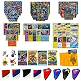 Pokemon Cards Super Premium Collection with 1 Full Art GX, 1 Full Art MEGA EX, 2 EX Cards, 6 Holo/Reverse Holo Cards, 10 Rares, 4 Boosters, 40 Cards, 65 Elite Sleeves, TopDeck Deck Box & Mini Binder