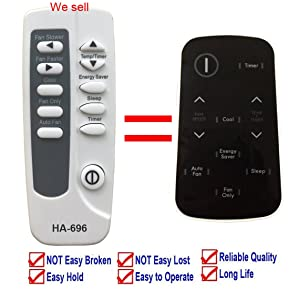 Replacement for Kenmore Air Conditioner Remote Control 5304476181 for Model 253.70121013 253.70121014 253.70121015 253.70121016 253.70128 253.70128110 253.70128111 253.70151 253.70151010 253.70151011