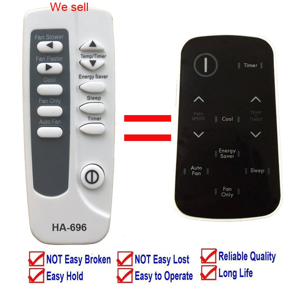 Replacement for Kenmore Air Conditioner Remote Control 5304504692 for Model 253.77060510 253.77060511 253.77060513 253.77080510 253.77080511 253.77080512 253.77080516 253.77080517 253.77110510