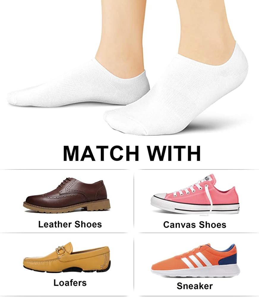 Women No Show Socks Invisible Loafer Flat No Slip Rise Flats Ankle Liners Short Thin Low Cut